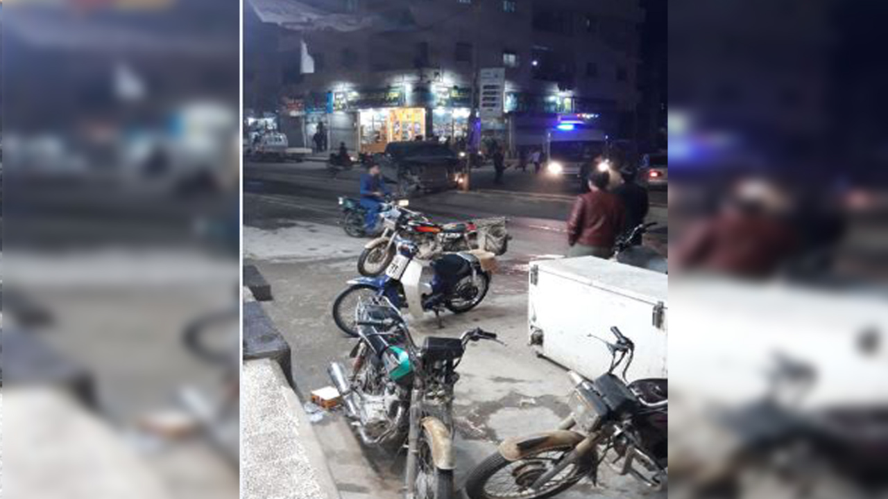 Photo of انفجار وسط مدينة الباب وتحليق للطيران في سمائها