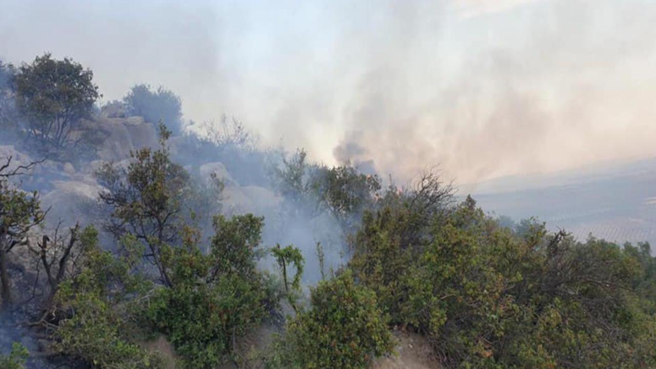 صورة حريق جديد بجبل هاوار ضمن سلسلة الحرائق المفتعلة من قبل مرتزقة تركيا