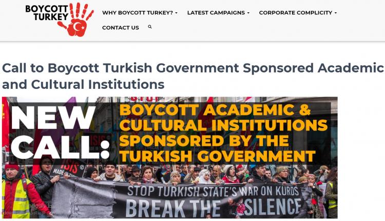 "Photo of مثقفون من أنحاء العالم ينظمون حملة ""قاطعوا تركيا"" تنديداً بالعدوان"
