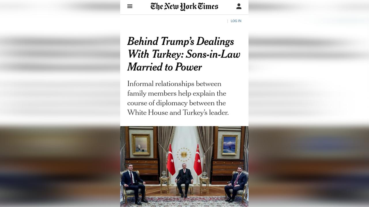 Photo of نيويورك تايمز: صهرا ترامب وأردوغان هما السر في علاقة واشنطن بأنقرة