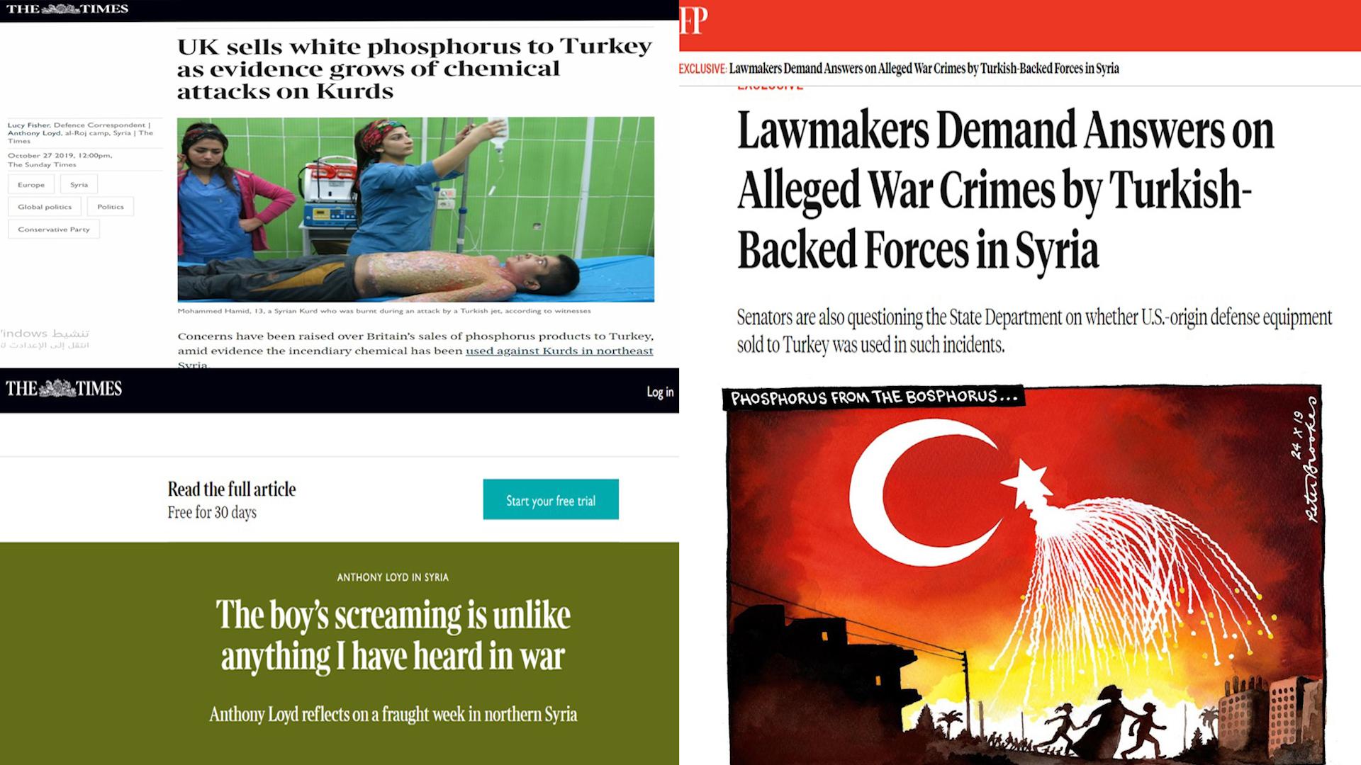 Photo of التايمز تتساءل: لماذا يرفض الغرب التحقيق في اتهامات لتركيا باستخدام الفوسفور الأبيض