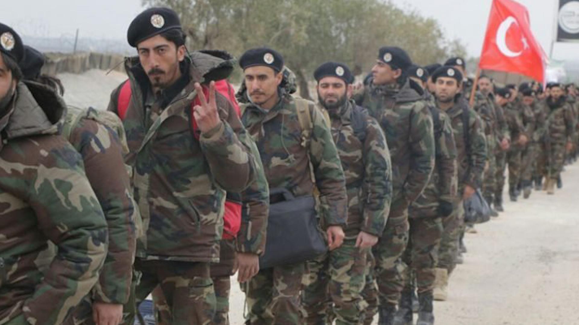 صورة وصول ألف مرتزق سوري موالين لتركيا إلى طرابلس الليبية