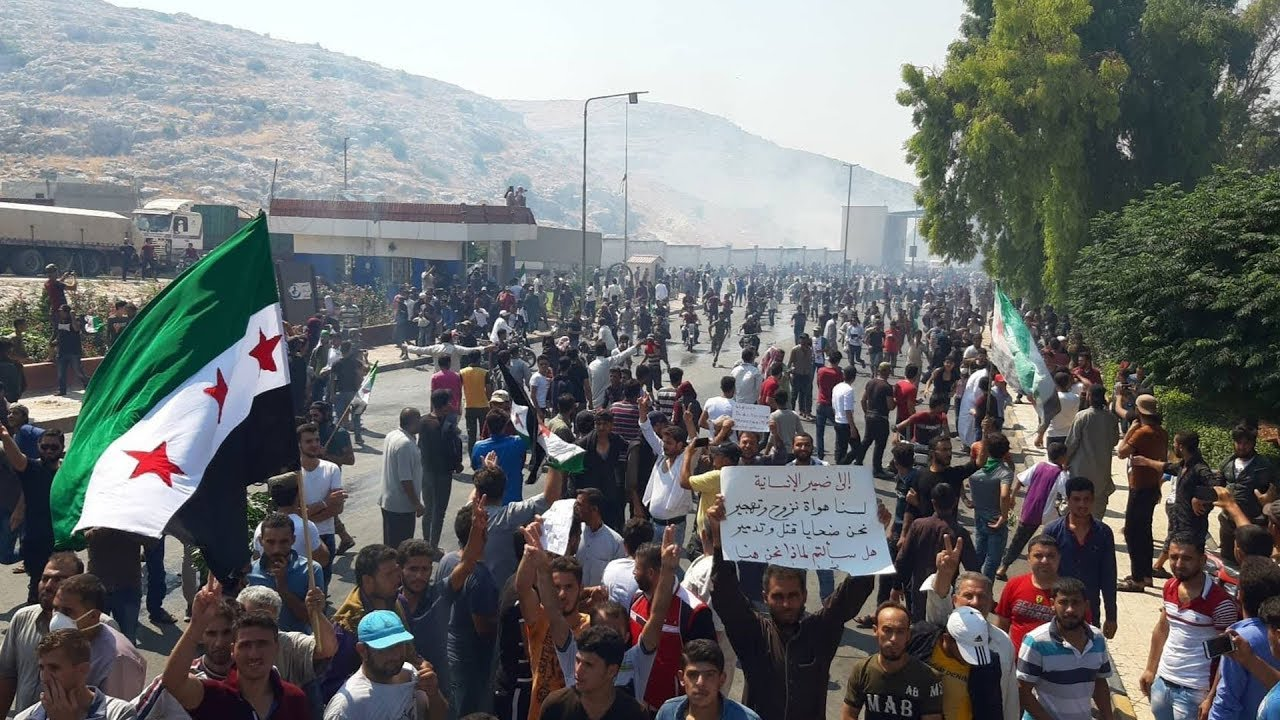Photo of مرتزقة تركيا يمنعون تظاهرة ضد الاحتلال من بلوغ معبر باب الهوى الحدودي