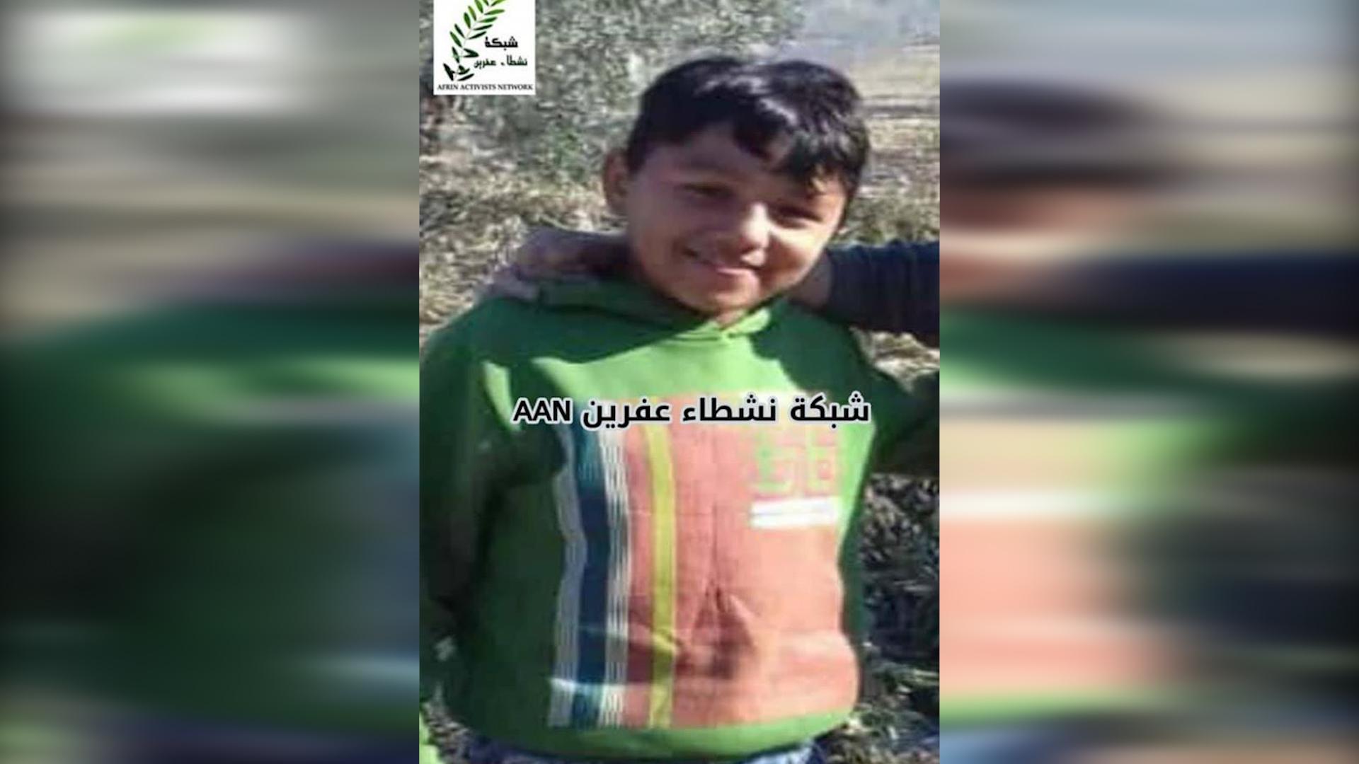 Photo of اختطاف الطفل الكردي قادر زلفو من مركز مدينة عفرين