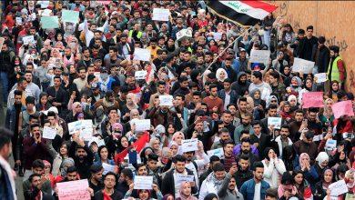 "Photo of تظاهرات حاشدة في بغداد.. وسياسيون ويهددون ""بإسقاط"" العلاوي"