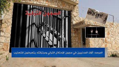 Photo of المرصد: آلاف المدنيين في سجون الاحتلال التركي ومرتزقته يتعرضون للتعذيب