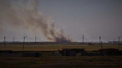صورة بالفيديو.. الاحتلال التركي يستمر بإضرام النيران في الأراضي الزراعية في تل تمر