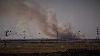 Photo of بالفيديو..مرتزقة الاحتلال التركي يضرمون النيران في الحقول الزراعية بريف تل تمر