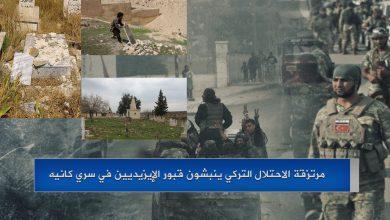Photo of مرتزقة الاحتلال التركي ينبشون قبور الإيزيديين في سري كانيه