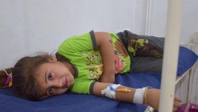 صورة يإصابة أربعة أطفال إثر إلقاء مجهولين قنبلة يدوية عليهم