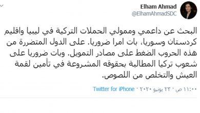 Photo of إلهام أحمد: يجب البحث عن داعمي وممولي الحملات التركية