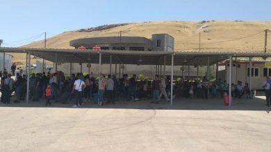 صورة معبر فيش خابور يمنع عبور 100 شخص من حاملي الجوازات الأوروبية
