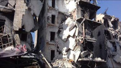 صورة حلب..وفاة 4 مدنيين في انهيار مبنى متصدع نتيجة عمليات القصف