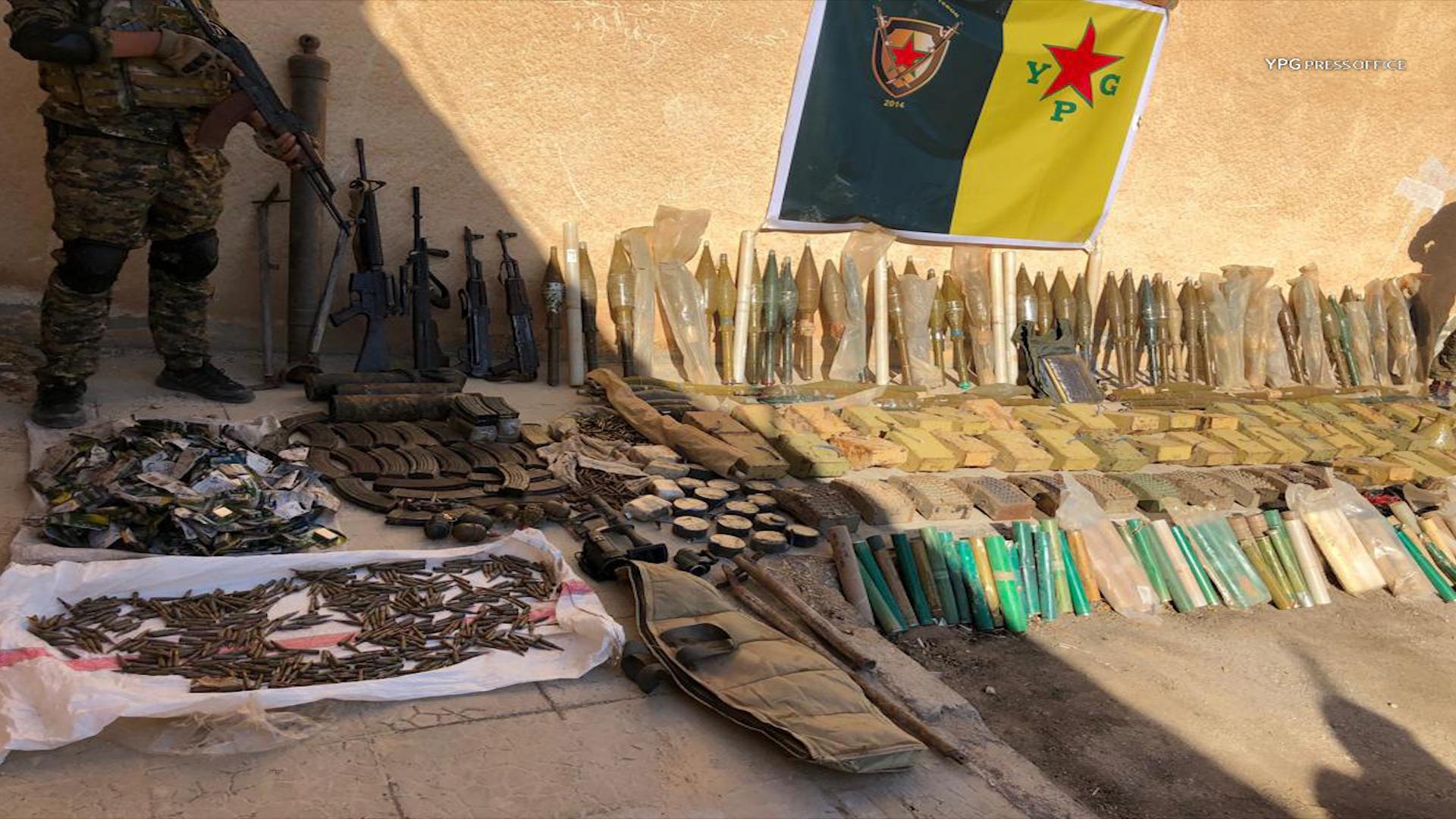 Photo of YPG'Ê LI HESEKÊ GELEK ÇEKÊN ŞANEYÊN DAIŞ'Ê GIRTIN