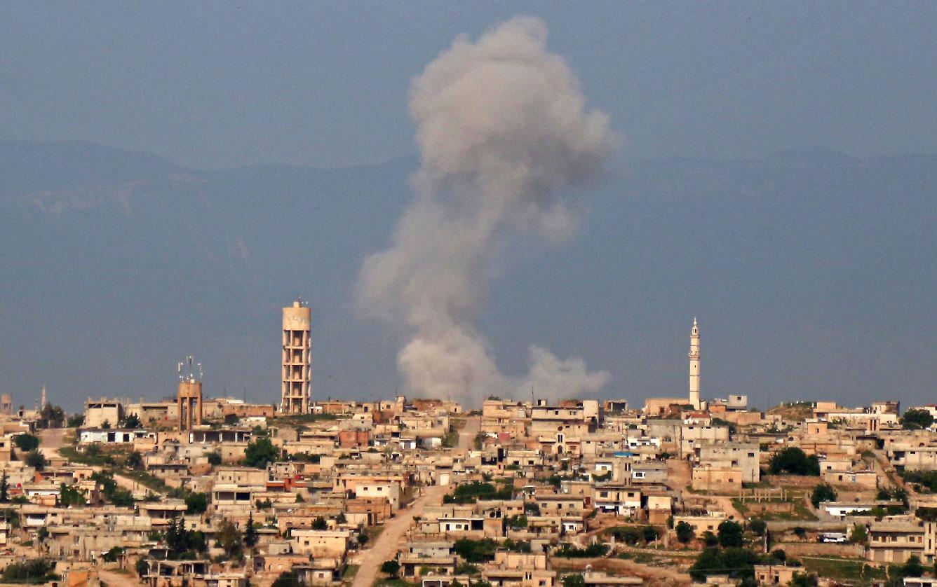 Photo of Rêjîma Sûrî û balafirên Rûsî Idlib bombebaran dikin