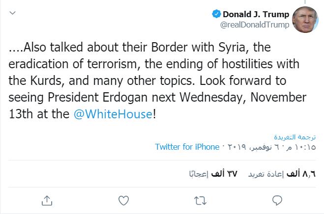 Photo of Donald Trump: Divê Erdogan dev ji dijminahiya Kurdan berde
