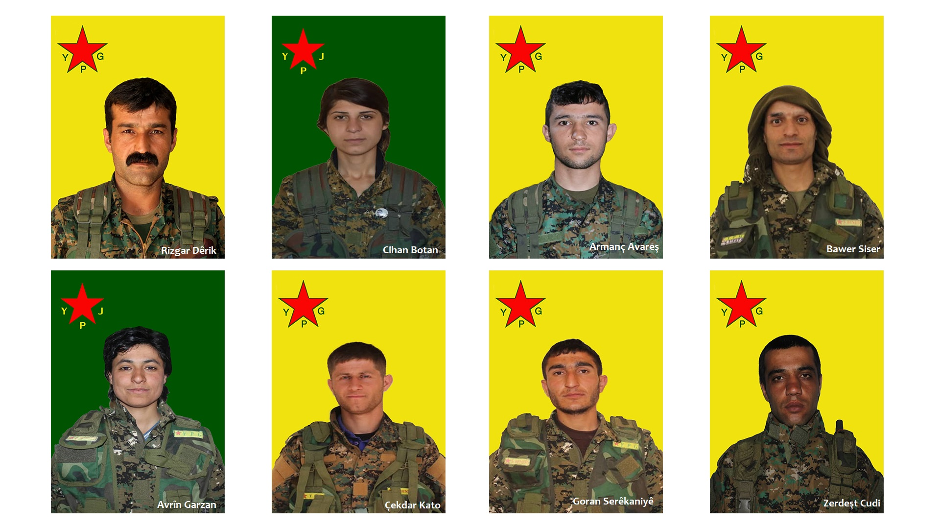 Photo of YPG nasnameya 8 şervanan eşkere kir