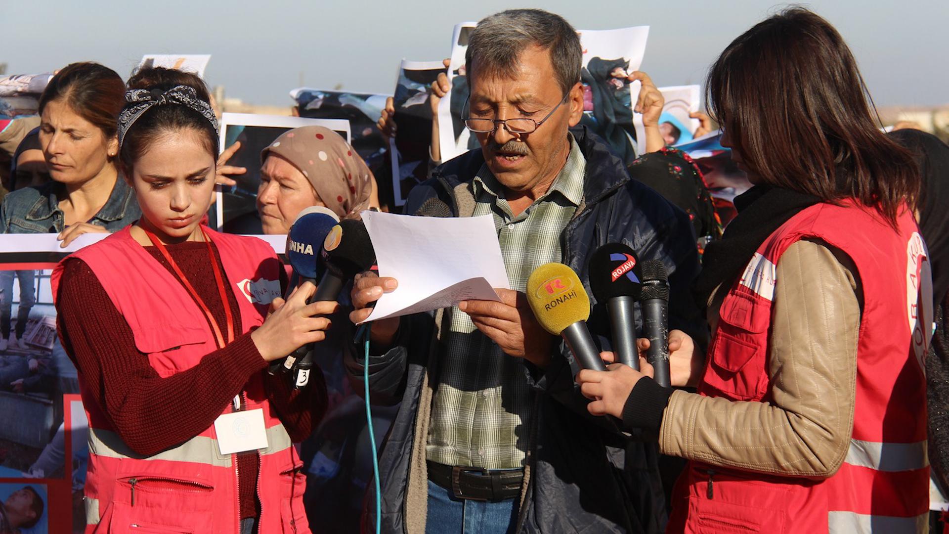 Photo of Rêxistina Mafên Mirovan û Heyva Sor a Kurd li Efrînê: Divê Tirkiyê were cezakirin