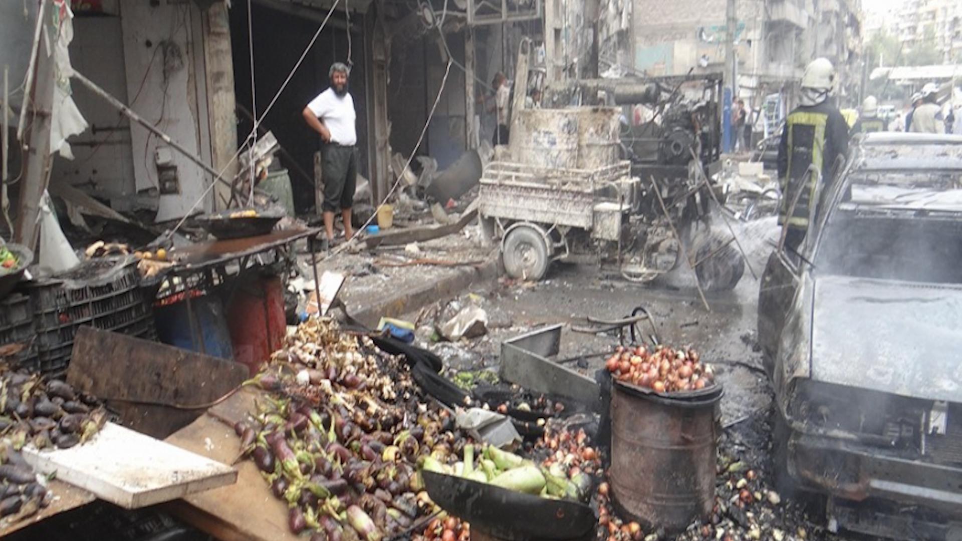 Photo of Rejîmê bajarokê Seraqibê a gundewarê Idlibê bombebaran kir, sivîlekî jiyana xwe ji dest da