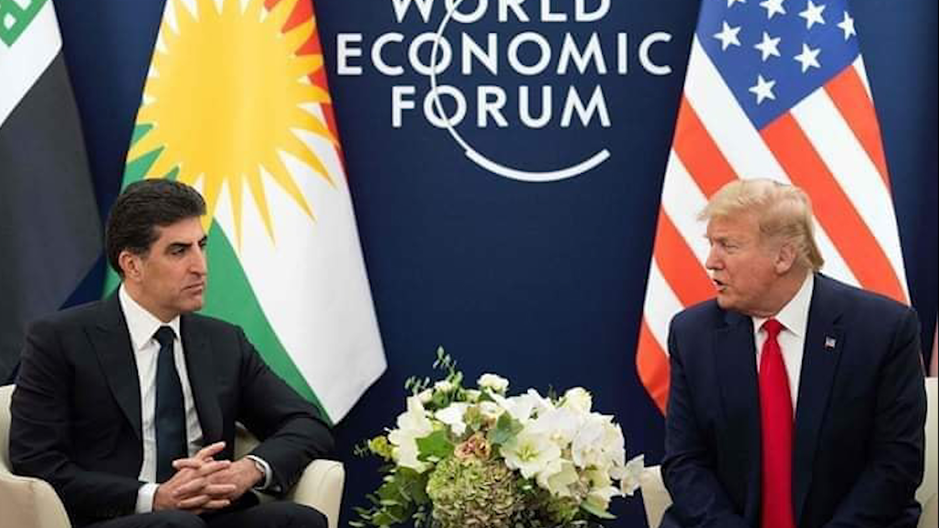 Photo of Donald Trump bi serokê Başûrê Kurdistanê û serkwezîrê Iraqê re civiya