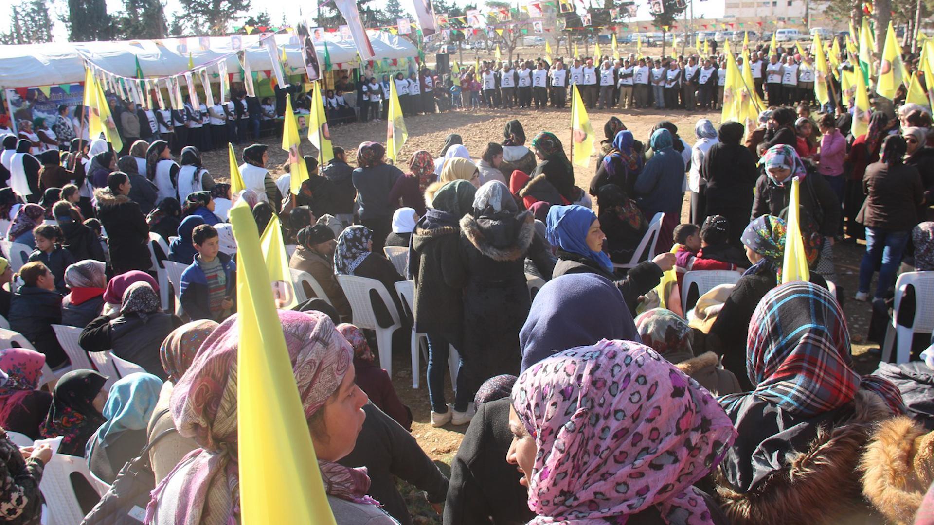 Photo of Kongra Star li dijî tecrîdkirina Rêber Ocalan li Şehbayê konê çalakiyê veda