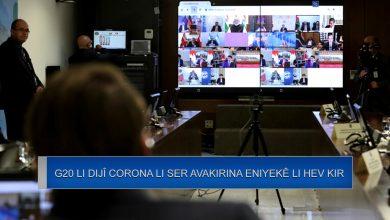 Photo of ji ber Corona aliyên lûtkeya G20 li ser avakirina eniyeke navdewletî li hev kir