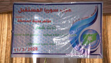 Photo of Kongra partiya Sûriya pêşerojê ya Hesekê hate li darxistin