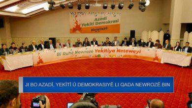 Photo of Partiyên Kurd: ji bo azadî, yekîtî û demokrasiyê li qada newrozê bin