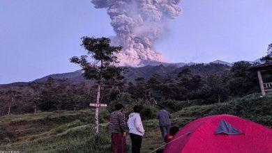 Photo of Li Endonezyayê, volkan aktîv bû û bi bilindahiya 5 kîlometre arî û toz berda