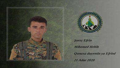 Photo of Hêzên Rizgariya Efrînê nasnameya şervanekî eşkere kir