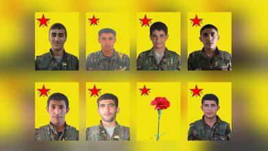 Photo of YPG'ê nasnameya 8 şervanan eşkere kir