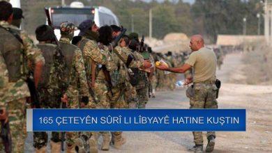 Photo of 165 çeteyên Sûrî li Lîbyayê hatine kuştin