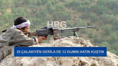 Photo of HPG: Li Heftanîn, Xakurk û Şirnexê 12 leşkerên dijmin hatin kuştin