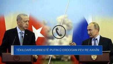 Photo of Erdogan bi Putin re axivî û agirbest gotûbêj kir