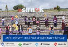 Photo of Jinên li Şirnexê: Li dijî zilmê mezinkirina berxwedanê