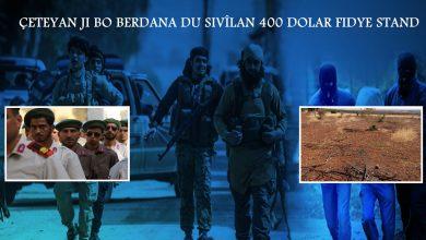 Photo of Çeteyan ji bo berdana du sivîlan 400 Dolar fidye stand