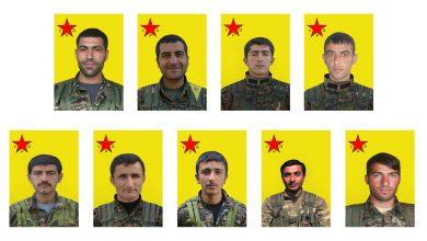 Photo of YPG'ê nasnameyên 9 şervanan eşkere kirin