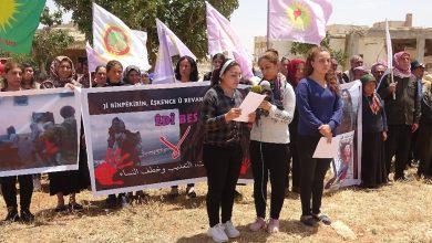 Photo of Êzidiyên Efrînî kiryarên dagirkeran ên li dijî jinan şermrzar kirin
