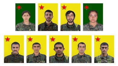 Photo of YPG'ê nasnameya 9 şehîdên xwe eşkere kir